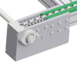 aliuminio profiliai panaudoti akumuliacinių grandininių konvejerių konstrukcijai