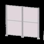 aliuminio profiliai panaudoti apsauginės tvorelės konstrukcijai