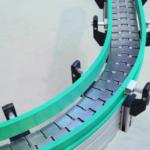 aliuminio profiliai panaudoti butelių transporterių konstrukcijai