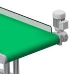 aliuminio profiliai panaudoti juostinių konvejerių konstrukcijai