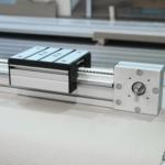 aliuminio profiliai panaudoti linijinės sistemos konstrukcijai