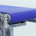 aliuminio profiliai panaudoti modulinių juostų konvejerio konstrukcijai
